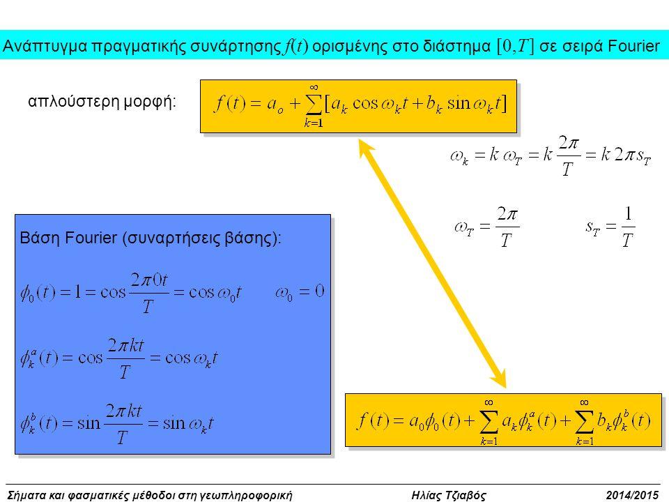 Ανάπτυγμα πραγματικής συνάρτησης f(t) ορισμένης στο διάστημα [0,T ] σε σειρά Fourier
